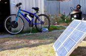 Charger la batterie du vélo électrique avec panneau solaire