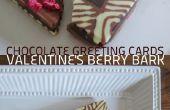 Cartes de souhaits au chocolat : Berry écorce Valentin