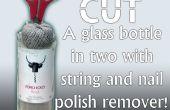 Comment couper une bouteille avec du dissolvant de vernis à ongles et de la chaîne !