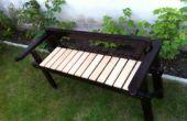 Recyclé structure canapé à un banc de jardin