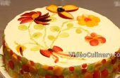 Gâteau de couche simple avec Cheesecake recette de remplissage