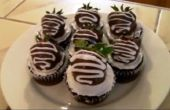 Classique de petits gâteaux au chocolat fraise
