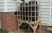 Recyclé palette Rain Barrel Stand