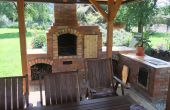 DIY foyer extérieur avec BBQ grill /brick/