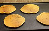 Crêpes de brisures de chocolat sans gluten patate gratuit