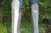 Comment faire des cretons (armure de jambe) en carton