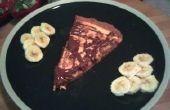 Pizza au fromage au beurre d'arachide avec garniture de banane