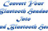 Convertir votre casque en filaire Bluetooth oreillette Bluetooth