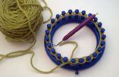 Bâti sur un métier à tricoter