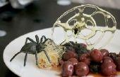 Spooky sucre filé Spiderweb Dessert pour adultes