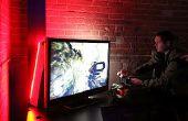 Une expérience de jeu vidéo à LED - gauche et droite réactive canaux stéréo (B.A.G.E.L.S.)
