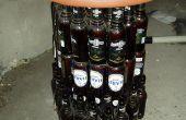 Mettez les bouteilles de bière en mobilier