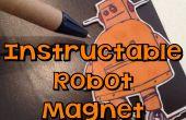 Collage avec E6000 - Robot Instructable aimant