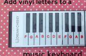 Étiquetage d'un clavier musical avec un plotter de découpe Silhouette
