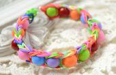 Comment faire Bracelet élastique arc-en-ciel avec perles acryliques