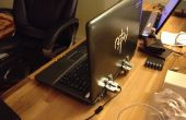 Réparation d'ordinateur portable cassé charnières et fissuré couvercle