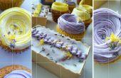 Cupcakes lavande citronniers