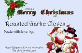Rôti de gousses d'ail pour Noël donner
