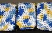 Crochet de débarbouillettes / torchons : comment crocheter un gant de toilette