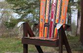 Construire une chaise de jardin de Skis recyclés - le Président de Ski !