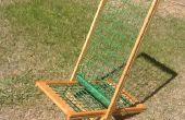 Chaise de jardin tissu léger