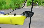 Kayak, pêche à la traîne moteur