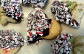 Biscuits au sucre chocolat menthe poivrée