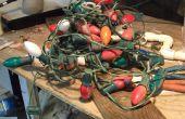 Création d'une bande de lumière de lumières de Noël vieux