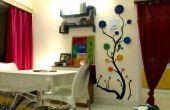 BRICOLAGE-décoration murale avec papier journal recyclé