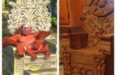 Inspiré de King Louie Temple Chaire (livre de la Jungle)