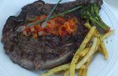 Comment faire pour BBQ Steak : Prime Rib Steak avec Peperonata ou Sauce aux champignons