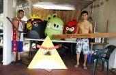 Costume de papier mâché Angry Birds !