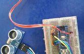 Arduino et capteur à ultrasons contrôle servo et distance compteur