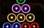 Tarte Tin arbre de Noël avec GE couleur effets lumières LED