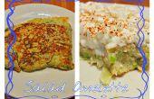 Healthy, pas cher, simple petit déjeuner salade Omelette