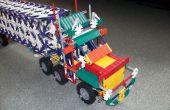 Camion semi avec instruction de remorque