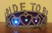 Clignotante LED « Fiancée » Bachelorette Tiara