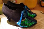 Paillettes chaussures-chaussures