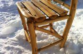 Construisez vous-même une chaise en bois rustique