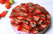 Cheesecake aux fraises crue saine