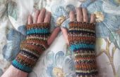 Fingerless gants de tricot