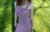 Robe d'été fabriqué à partir de deux cercles de tissu