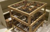 Simple support de séchage de champignons
