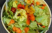 Orzo et salade capucine