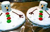 Cookies de bonhommes de neige de fonte