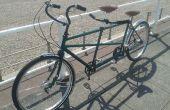 Restauration vintage vélo tandem
