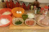 Pepperoni farcies poulet Parmesan