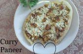 Pizza de Paneer Curry simple