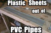 Feuille de plastique de tubes en PVC