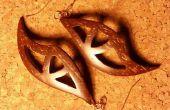 Les boucles d'oreilles coquille de noix de coco